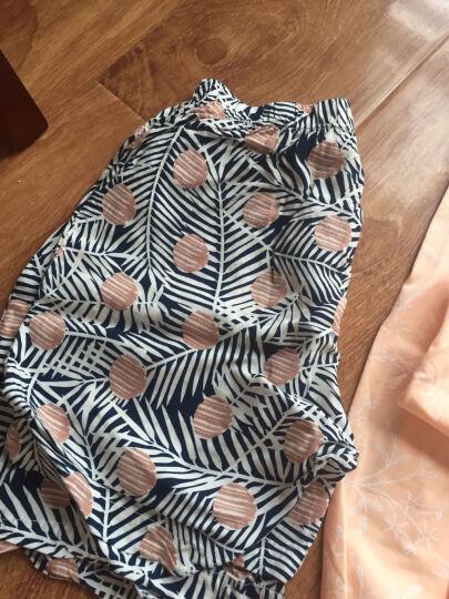 久岁伴男童T恤套装夏季薄款儿童睡衣中大童圆领短袖家居服2502 2508白/蓝 160cm 晒单图