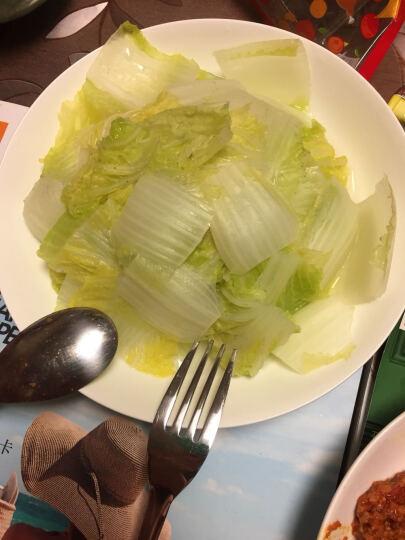 亿嘉IJARL 西餐餐具 不锈钢磨砂水果叉甜品牛排刀叉便携餐具套装 黑银 主餐叉 晒单图