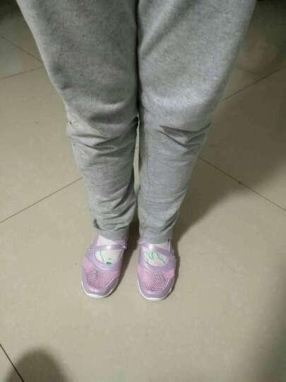 开辛 女童鞋秋冬季新品儿童运动鞋2017中大孩韩版加绒户外跑步学生鞋 银色 32码/鞋垫长20.2cm偏小一码 晒单图