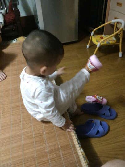 巴布豆 儿童凉拖鞋 宝宝室内防滑家居鞋洞洞鞋007粉红150mm/内长150mm 晒单图