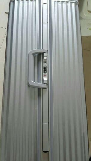 迈克米兰铝框拉杆箱万向轮女旅行箱男行李箱登机箱20/24/28英寸 黑色拉丝 28英寸 大容量 15天以上出行 晒单图