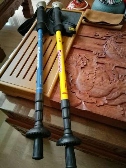 鲁滨逊 登山杖 碳纤维 四节内锁短轻新释然爬山徒步手杖伸缩拐杖 高碳素含量 新释然 宝蓝色 晒单图