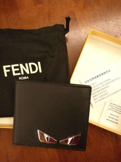 FENDI 芬迪 男士钢灰色牛皮短款钱包钱夹 7M0169 O7A F07T6 晒单图