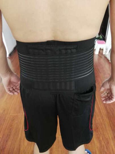 曼迪卡威护腰带 腰间盘突出运动腰托8根支撑条 男健身护腰 黑色 L/XL 适合腰围85cm以上 晒单图