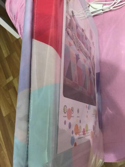 皮尔卡丹家纺 四件套纯棉斜纹印花床品套件全棉床上用品 彩色 1.5-1.8米床通用(被套200*230cm) 晒单图