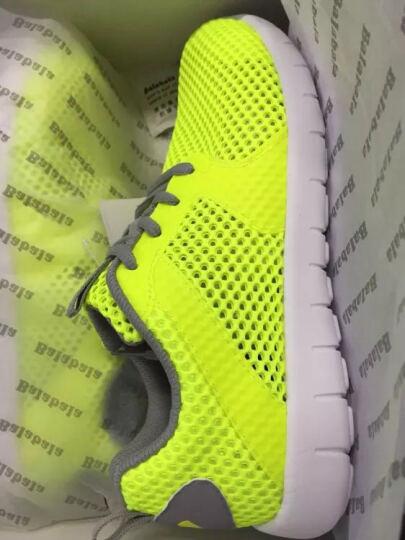 巴拉巴拉童鞋男童跑鞋中大童运动鞋子2017夏新款儿童运动鞋男休闲 黄色调 34 晒单图