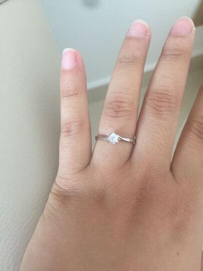永富钻石 白18K金钻石戒指 求婚/结婚/钻戒 女 扭臂雪花款 18K金 15分钻石 超值款 晒单图