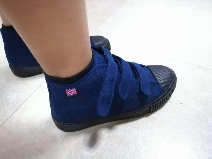 蜡笔小新儿童靴子女童靴子新款高帮男童棉鞋反皮绒二棉鞋Z-505大红34 晒单图
