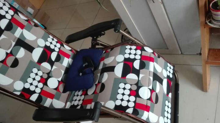 比进品牌 躺椅午休折叠椅孕妇椅子夏天靠椅阳台户外睡椅便携休闲椅折叠床纳凉老人座椅庭院懒人乘凉坐椅子 特宽尺寸特厚钢管加厚透气面料+薄棉垫 晒单图