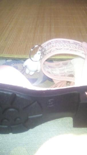 迷你狮童鞋 女童鞋2018春秋季新款儿童单鞋小女孩韩版公主鞋中大童软底学生鞋舞蹈鞋演出鞋 粉色A22 32码内长19.6cm 晒单图