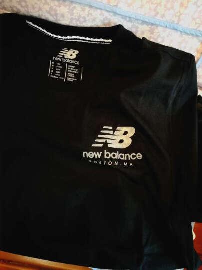 New Balance/NB新款纯色男款短袖上衣圆领运动T恤AMT63554 黑色AMT71639BK L 晒单图