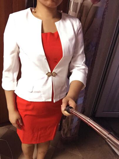 倾町 小西装女夏季新款职业装女装套装美容院工作服工装大学生面试正装女修身西服套裙两件套 白西装+红裙 M(建议90-100斤以内) 晒单图