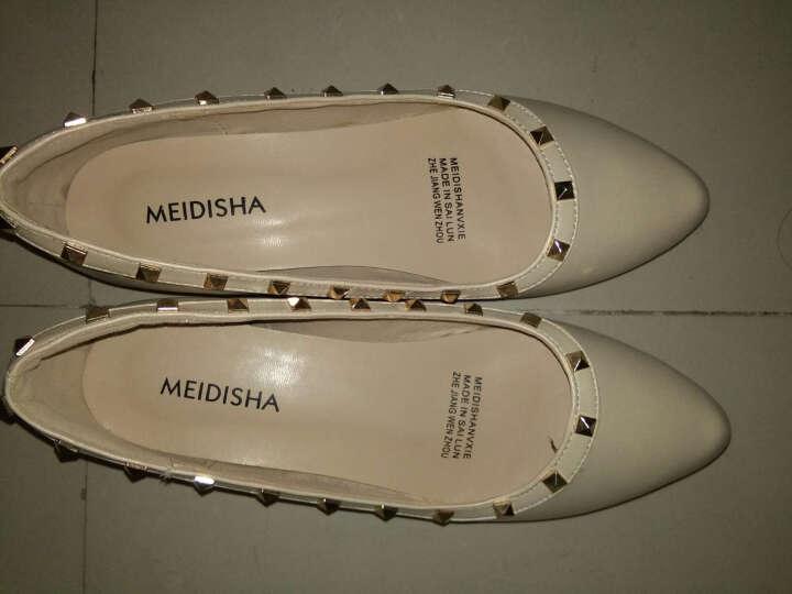 玫蒂莎(MDIS∧)  舒适休闲逛街开车都方便女鞋 AE186 米色 35码 晒单图