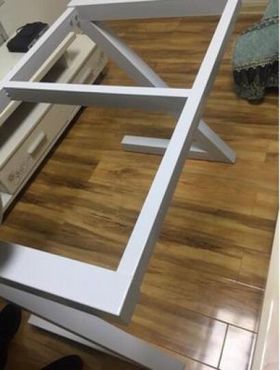 乔巴克 电脑桌 台式 家用 简约现代办公桌书桌钢化玻璃笔记本Z型写字桌 黑架+白板 长80cm 晒单图