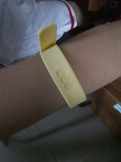 FaSoLa环保防蚊手环 植物精油健康防蚊手带 彩色手链 浅黄色 不含花 晒单图