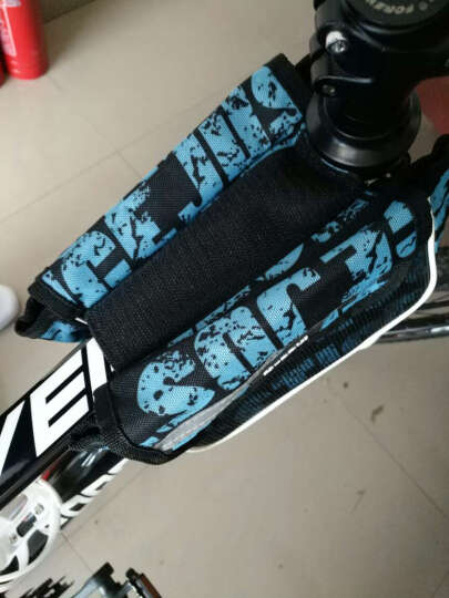 NE&CE BSK单车前横梁包上管包触屏手机包自行车骑行山地车马鞍包配件包 BS1611蓝(5.7寸) 晒单图