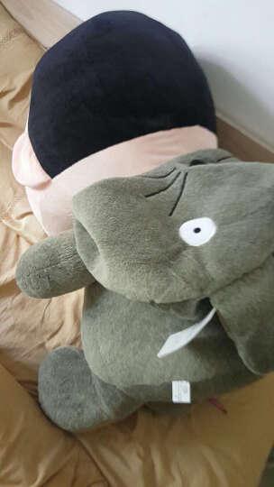 阳光猴 可爱变身蜡笔小新公仔抱枕靠垫毛绒玩具大号布娃娃玩偶生日礼品女生 龙猫小新囧囧款 56厘米 晒单图