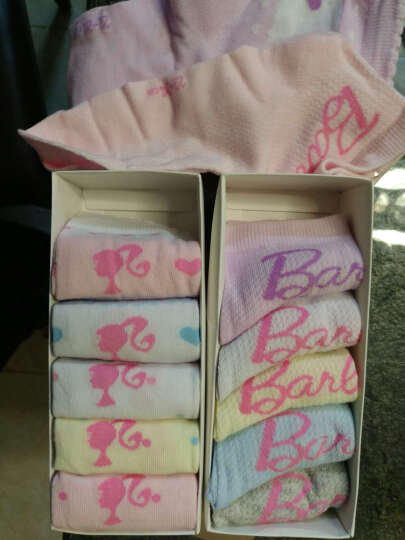 芭比(Barbie) 芭比儿童袜子 女童精梳棉6双组 公主短袜子 网眼A款-87928女童6双组 22-24cm适合10岁以上 晒单图