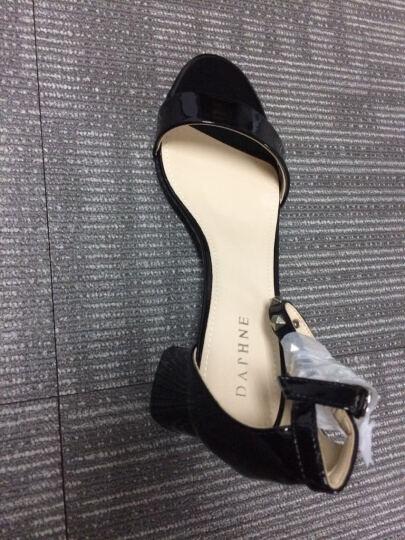 达芙妮品牌粗中高跟凉鞋女夏季新品女鞋铆钉方跟 033白色 36 晒单图