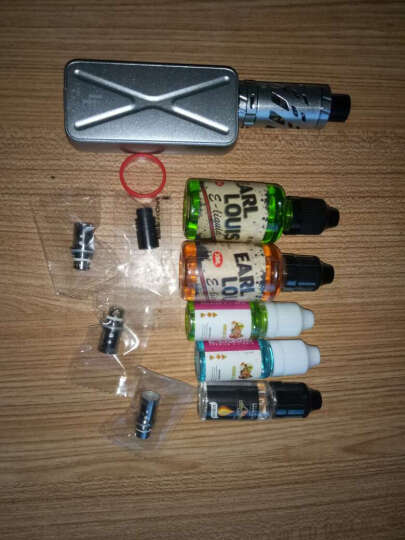 路易伯爵(Earl Louis)电子烟套装大烟雾大功率80W温控蒸汽烟戒烟器 银色升级套餐 晒单图