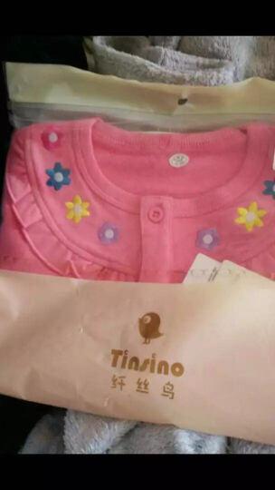 纤丝鸟(TINSINO)童装儿童新款男童女童抓绒卫衣开衫外套THY053343908 四色小花 粉红 73 晒单图