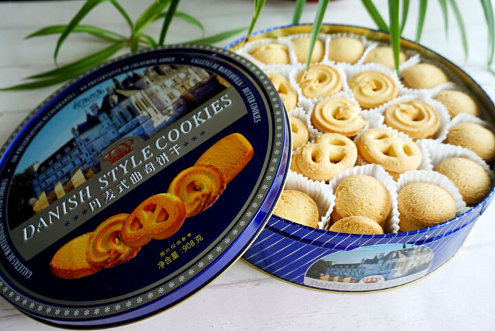 优尚优品曲奇饼干 代餐早餐食品网红点心休闲零食 蓝罐铁盒母亲儿童节送礼盒装908g 晒单图