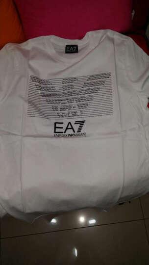 EMPORIO ARMANI EA7 阿玛尼 男士深蓝色棉质圆领短袖T恤 8NPT01 PJ30Z 1578 S码 晒单图