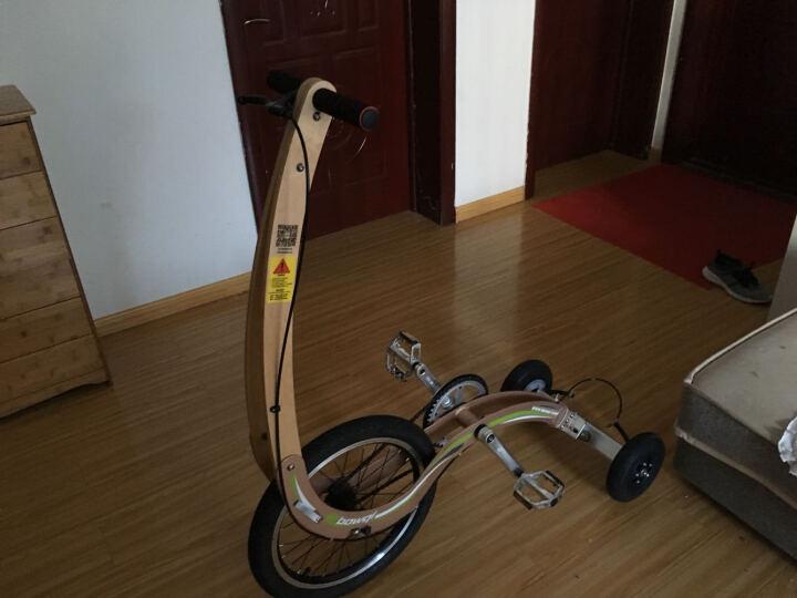 Bowqi豹骑无座健跑车便携跑步自行车运动健身娱乐锻炼可折叠代步动感单车 钢琴黑 晒单图
