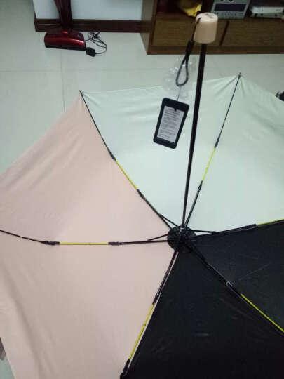 德国kobold(UPF50+)三折折叠晴雨伞时尚撞色遮阳伞超轻防晒防紫外线晴太阳伞 深兰色 晒单图