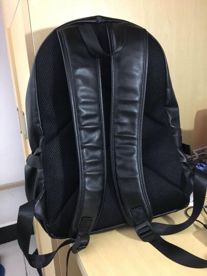 第九城(V.NINE)双肩包 男士大容量旅行背包14英寸/15.6英寸电脑包韩版休闲中大学生书包 款式1-黑色 (699834) 晒单图
