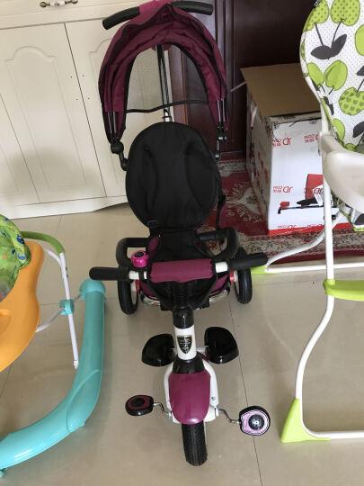 小虎子(little tiger)儿童三轮车脚踏车 可折叠婴儿车童车 宝宝手推车 魔方系列T300 充气轮 紫罗兰 晒单图