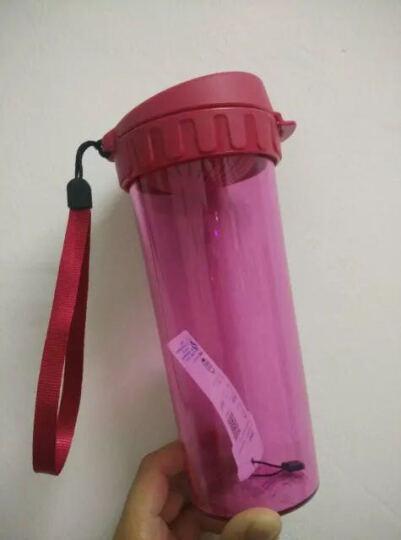 特百惠(Tupperware)茶韵塑料随心运动防漏水杯子 带拎绳茶隔茶杯 500ml美唇红 晒单图