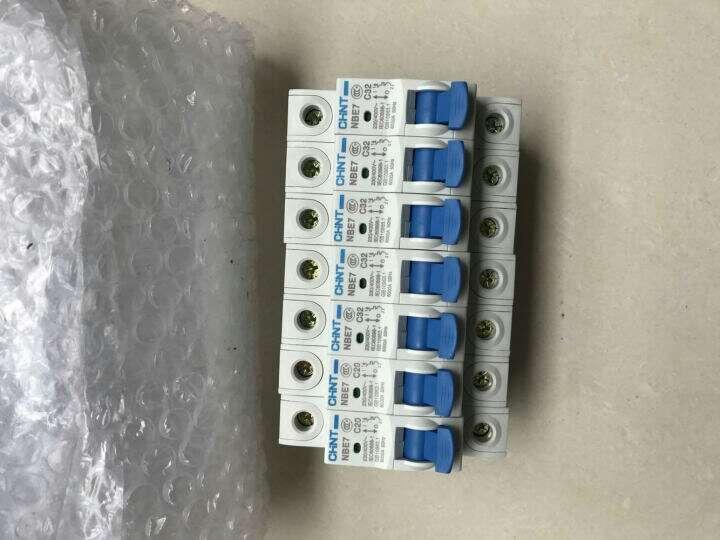 正泰(CHNT) 正泰电气 家用小型断路器 正泰空气开关家用1P2P3P小型断路器32A40A63A 1P10A 晒单图
