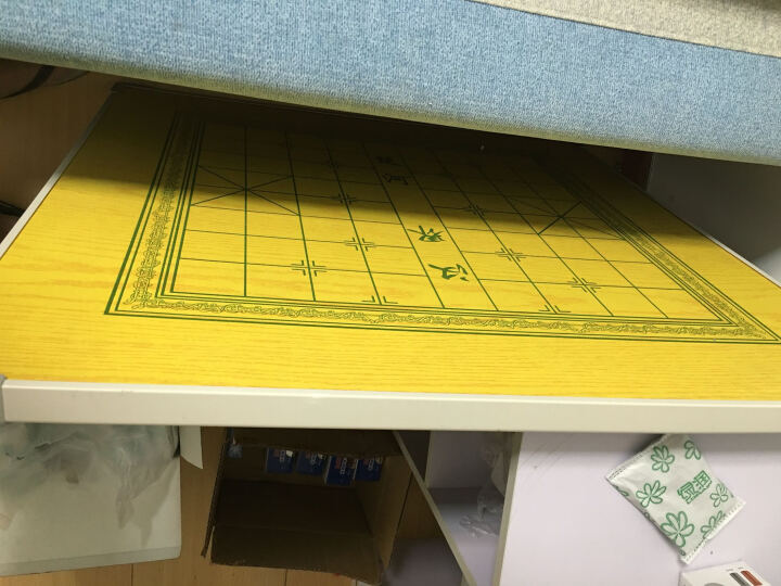 ShenXin折叠麻将桌实木方桌棋牌桌餐饭桌面板雀台手动家用寝室桌 80绿面红方腿 晒单图