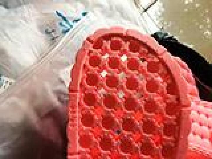 集纯 JICHUN 拖鞋洗澡漏水防滑情侣家具浴室拖鞋 女款玫红色38-39码(新老款随机发货) 晒单图