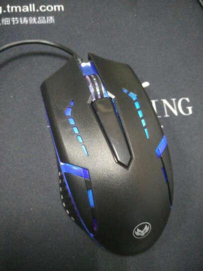 博娱 包邮  USB有线鼠标 笔记本台式机一体机U口家用办公方口鼠标 金属底 七彩光 白色鼠标 晒单图