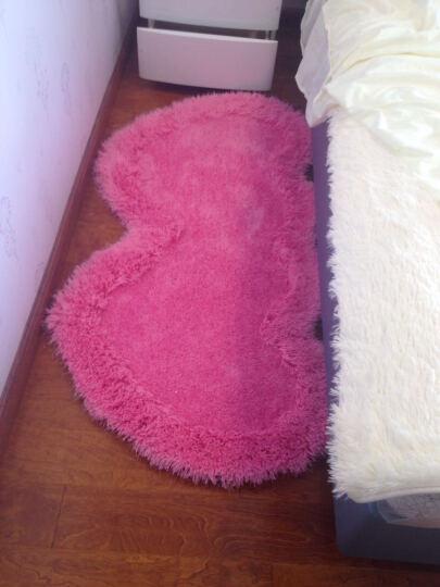 雪之恋卧室地毯床边飘窗床头玄关弹力丝地毯温馨可爱 椭圆香槟色 71*141CM 晒单图