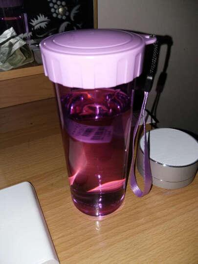 特百惠水杯莹彩杯子便携茶杯塑料随手杯简约户外随身杯430ml 香瓜绿 430ml 晒单图