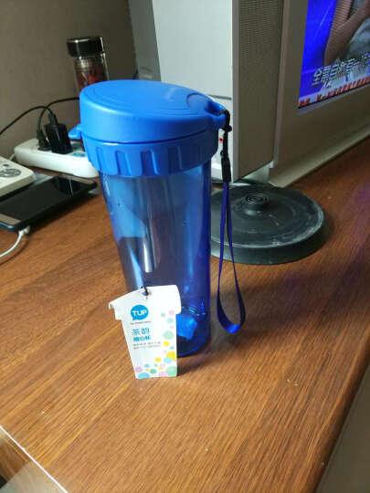 特百惠(Tupperware)茶韵塑料随心运动防漏水杯子 带拎绳茶隔茶杯 500ml纯净蓝 晒单图