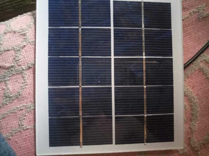 太阳能发电 太阳能电池板500ma手机充电宝户外充电器光伏板 晒单图
