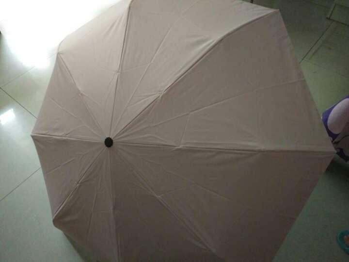 JUST MODE 太阳伞女撞色小清新折叠防紫外线女遮阳伞 粉色 晒单图