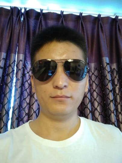 威古氏(VEGOOS)太阳镜男款偏光墨镜司机驾驶眼镜男士蛤蟆镜3025M 金框绿灰片 标准码 晒单图