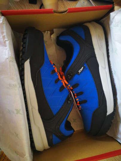 特步xtep男款户外鞋 新款上市耐磨防滑运动鞋 户外休闲鞋 兰灰 43 晒单图