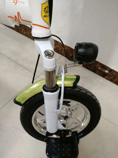 折叠电动自行车锂电成人男女式迷你小型学生超轻便携滑板双人亲子代步电瓶车 48V 黑色48V10A助力续航约35-45 晒单图