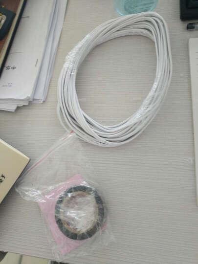 电线灯头线电源线无氧铜白色双并线RVB2芯0.75/0.5平方平行LED国标柔软耐折零卖 2芯X0.5平方【1米】 晒单图