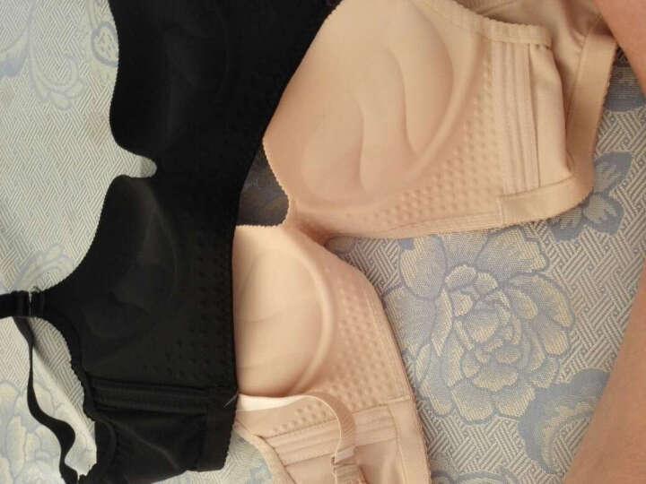 南极人聚拢文胸无钢圈薄款深V调整型女士内衣小胸罩一片式隐形无痕性感文胸 性感黑色 75B/34B 晒单图
