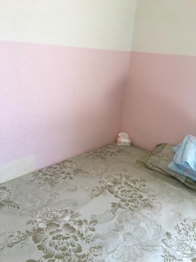欧唛 PVC自粘墙纸壁纸 带胶 百搭款 卧室 客厅 背景贴 10米装 OM4401银白小菊花 晒单图