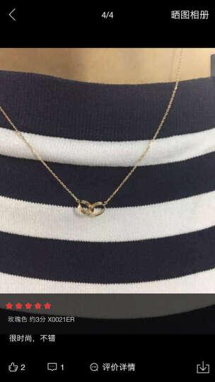 克徕帝(CRD)18k金钻石项链 钻石吊坠 女士链坠 永恒之恋 LULALA系列 玫瑰金  X0021DR  8分 晒单图