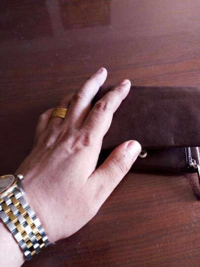 迪德男士钱包男短款真皮多功能男士钱夹拉链零钱包多卡位卡包男大容量青年驾驶证套皮夹 DQ595深啡色 晒单图