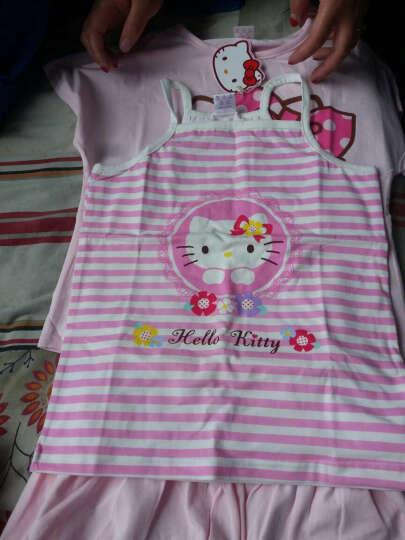 凯蒂猫(HELLO KITTY)儿童吊带背心女童宝宝小孩童装打底衫吊带小背心 KT5189 粉色 140cm 晒单图